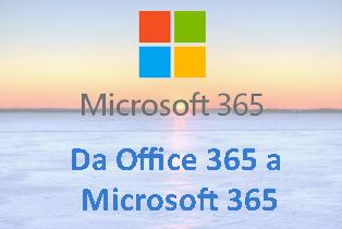 Da-Office 365 a Microsoft 365