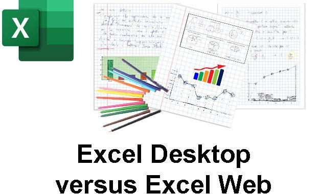 Excel web e desktop