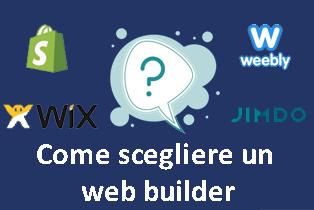 scegliere un web builder